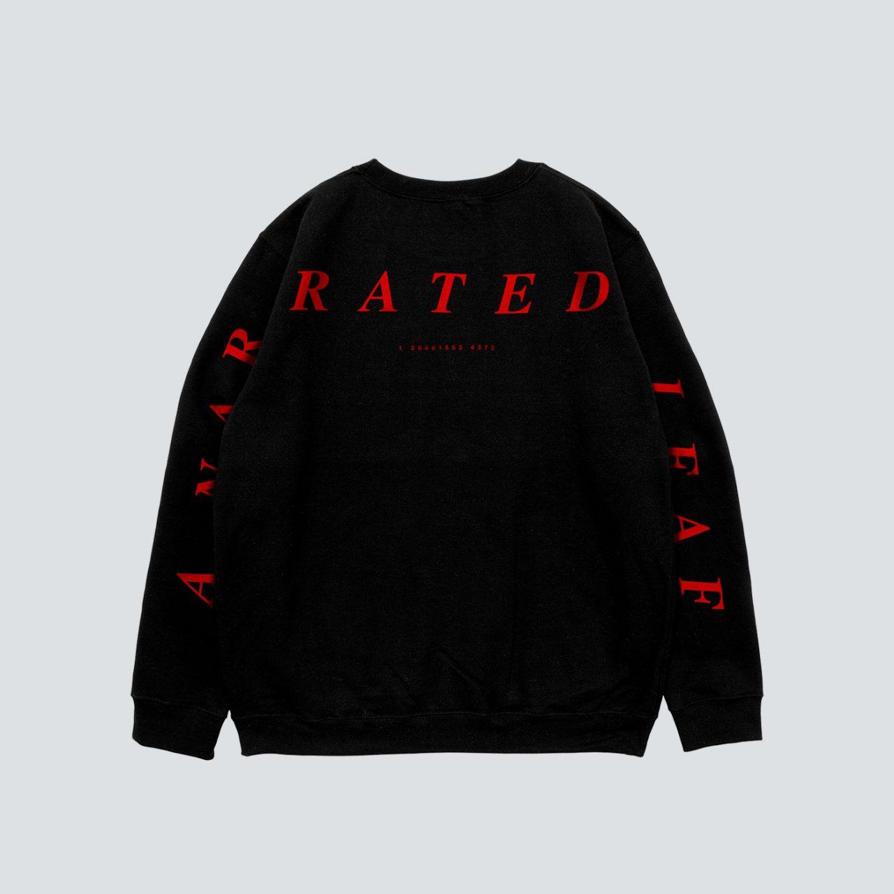 BLACK Sweatshirt Back